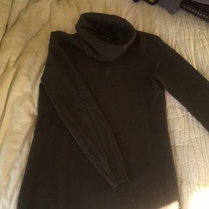 Olive colored turtleneck sweater
